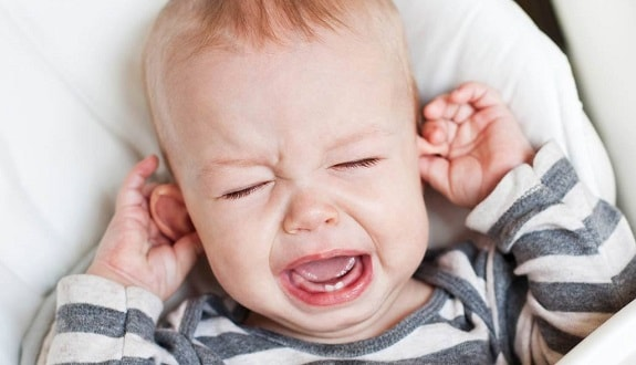 Crying Baby Pulling on Ears
