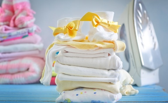 Clean Folded Baby Clothes