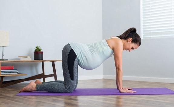 Expecting Mother of Twins Exercising