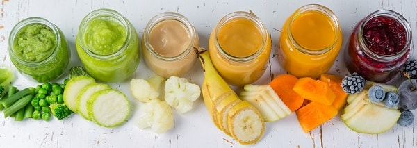 Baby Food Purees In Glass Jars