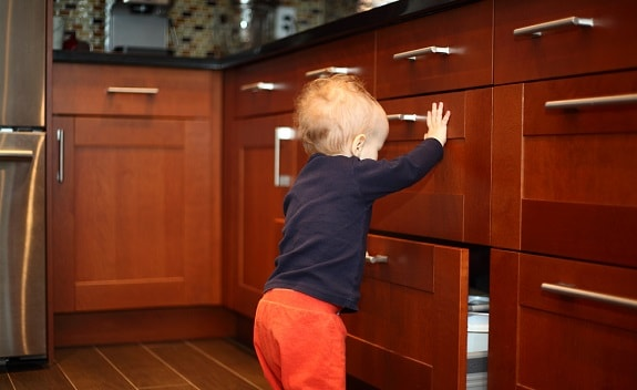 How to Childproof Cabinets and Drawers Without Drilling