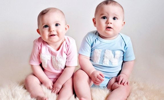 Identical Twin Babies with Noticeable Physical Differences