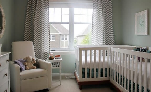 Separate Twin Cribs L Shape
